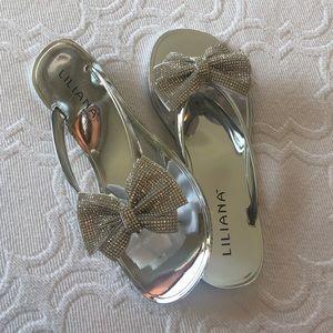 NWT Rhinestone Jelly Sandals